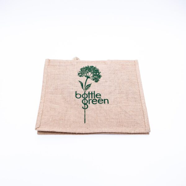 Promotional Jute Tote Bag - Bottle Green