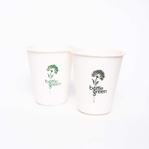 Recycleable Promotional Cup - Bottle Green